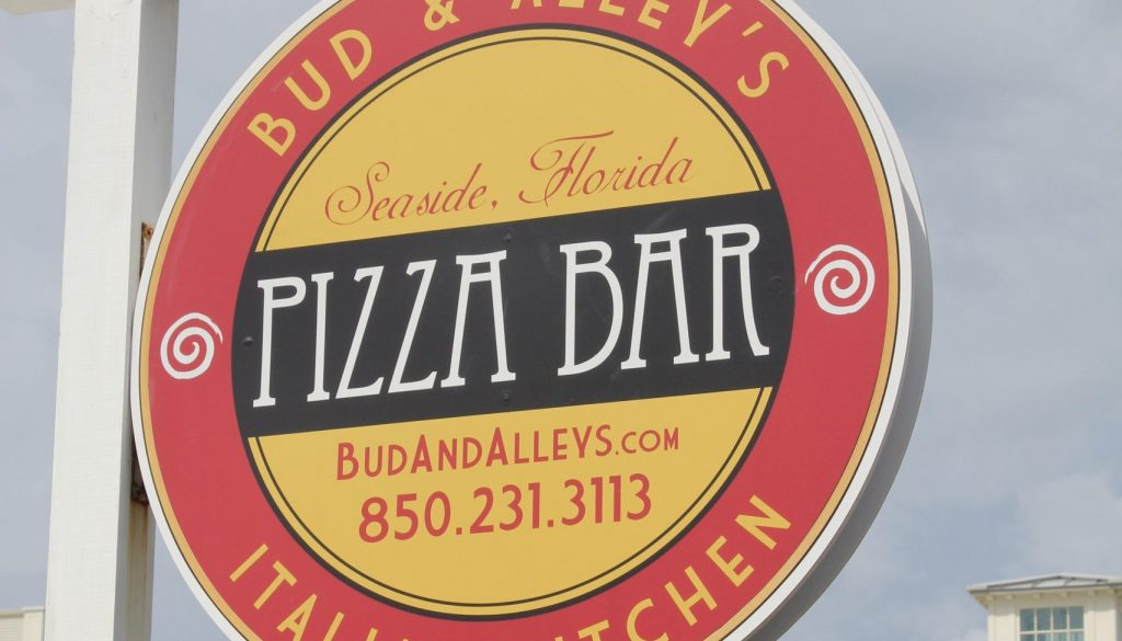 Seaside Bud Alleys Pizza Bar 30a food and wine