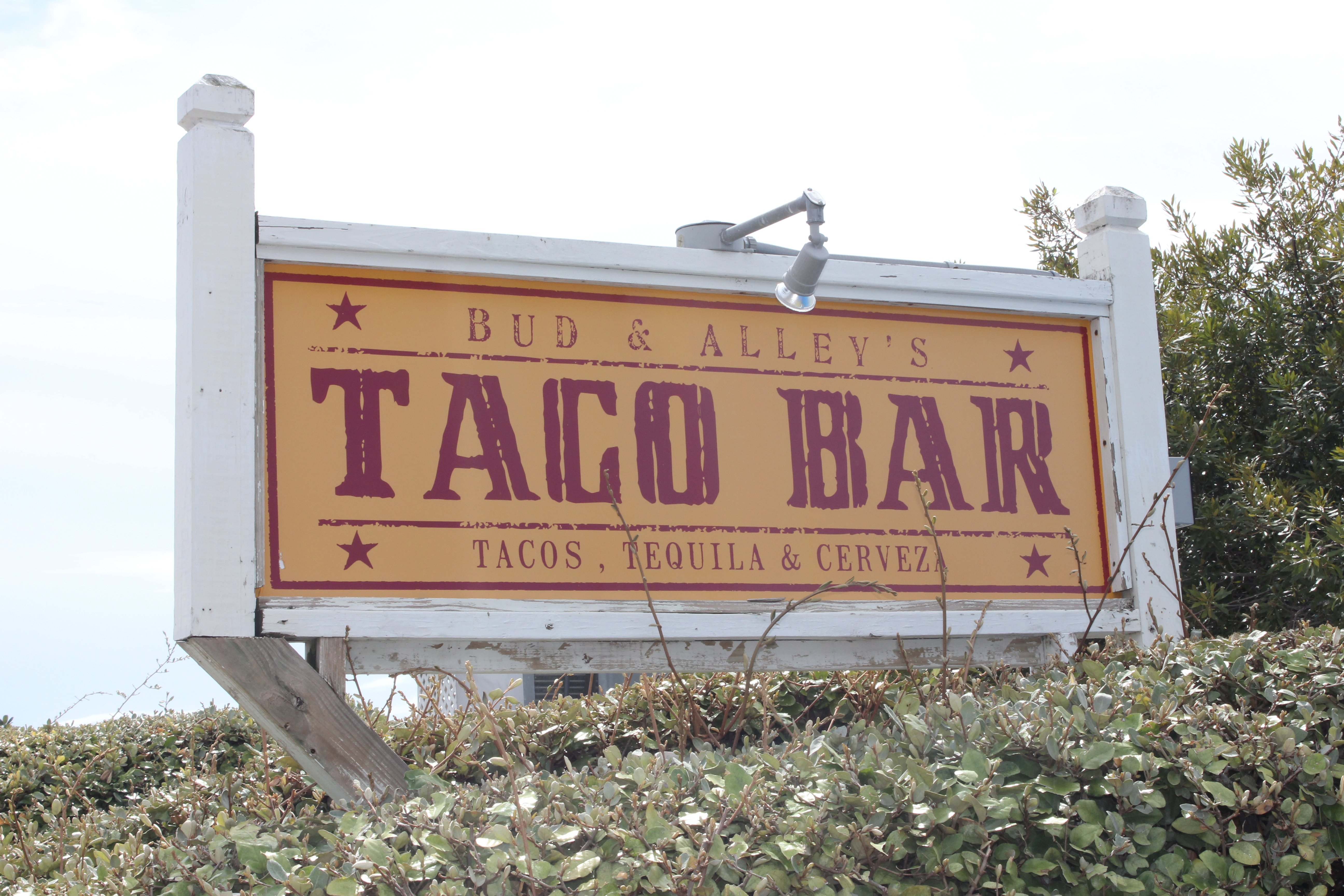 Seaside Bud Alleys Taco Bar 30a food and wine