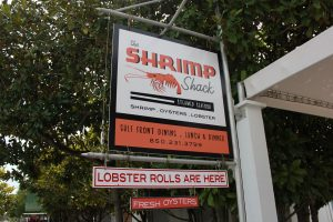 Stop by the Shrimp Shack in Seaside for a tasty treat after a day at the beach.