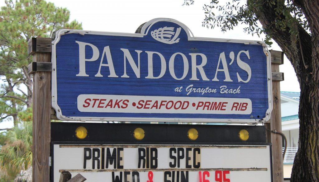Grayton Beach Pandora's 30a food and wine