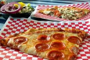 Some of the favorites at Pizza by the Sea.  Photo by Sarah Robertson