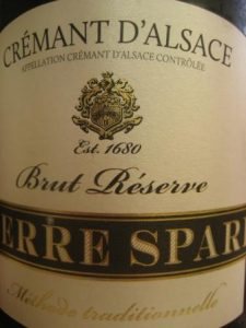 This week's selection, Pierre Sparr Crémant d'Alsace Brut Reserve