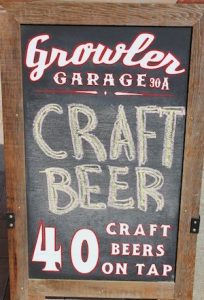 Looking for 40 craft beers on tap?  Growler Garage in Santa Rosa Beach has you covered.