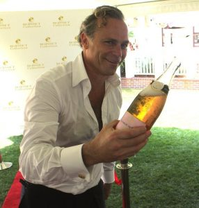 Jean-Charles Boisset pours for the crowd at the 2015 South Walton Beaches Wine and Food Festival