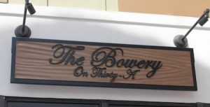 Enjoy a the stuffed french toast and bottomless mimosas for brunch at the Bowery on Thirty A.