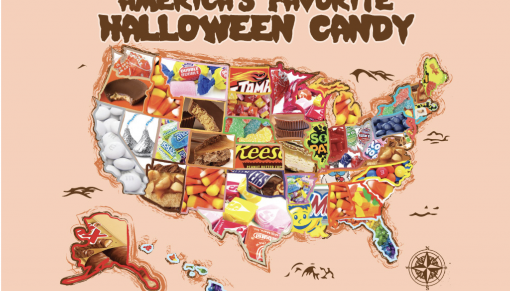 America's Favorite Halloween Candy by State