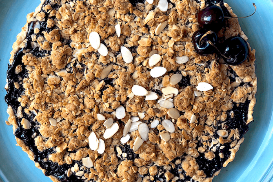 Amaretto Cherry Streusel Tart Summer Recipes