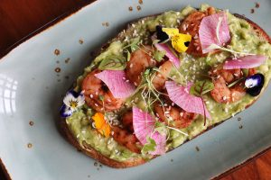 Avocado flatbread