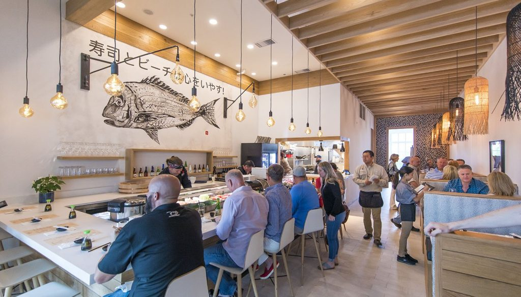 Shaka Sushi dining room