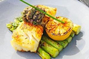 Fish asparagus lemon