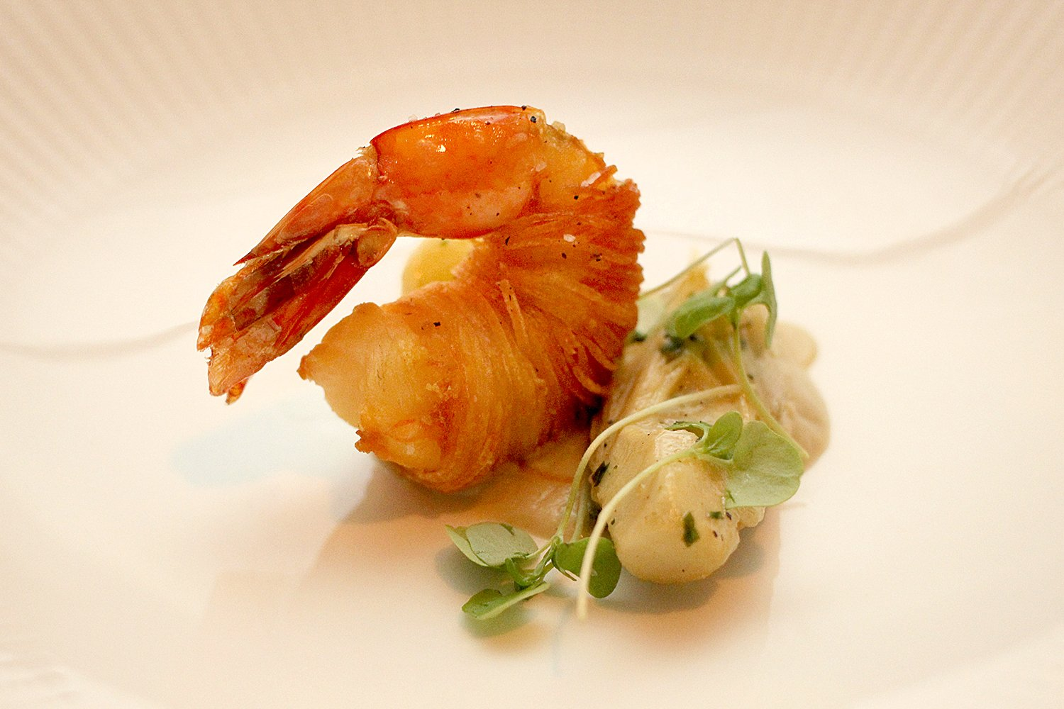 Crisp Potato-Wrapped Gulf Shrimp