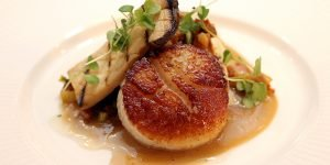 Pan-roasted diver scallops
