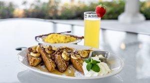 Banana brulee french toast